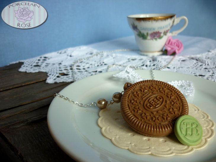 OREO COOKIE NECKLACE by theporcelainrose.deviantart.com on @deviantART
