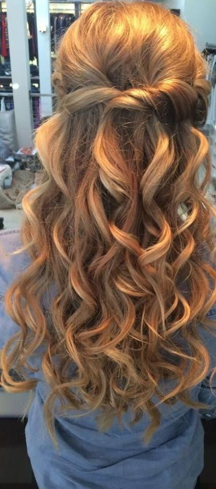 Beachy mermaid curls Prom hairstyles for long hair Wedding hair down Dance hairstyles