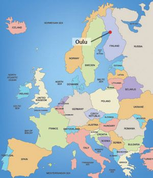 Map Of Oulu Oulu Finland Scandinavia