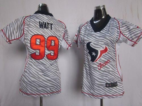 05e6aac6 Houston Texans J J Watt 99 Zebra Women Nike by RhinestonesandRacks ...