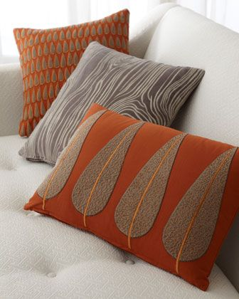 Decorative Pillows at Horchow. I like the tree & wood grain pillows.