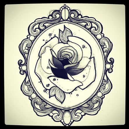 ornate frame tattoo oval pinterest ornate frame tattoo say take away rose put in quote and stretch it lengthways