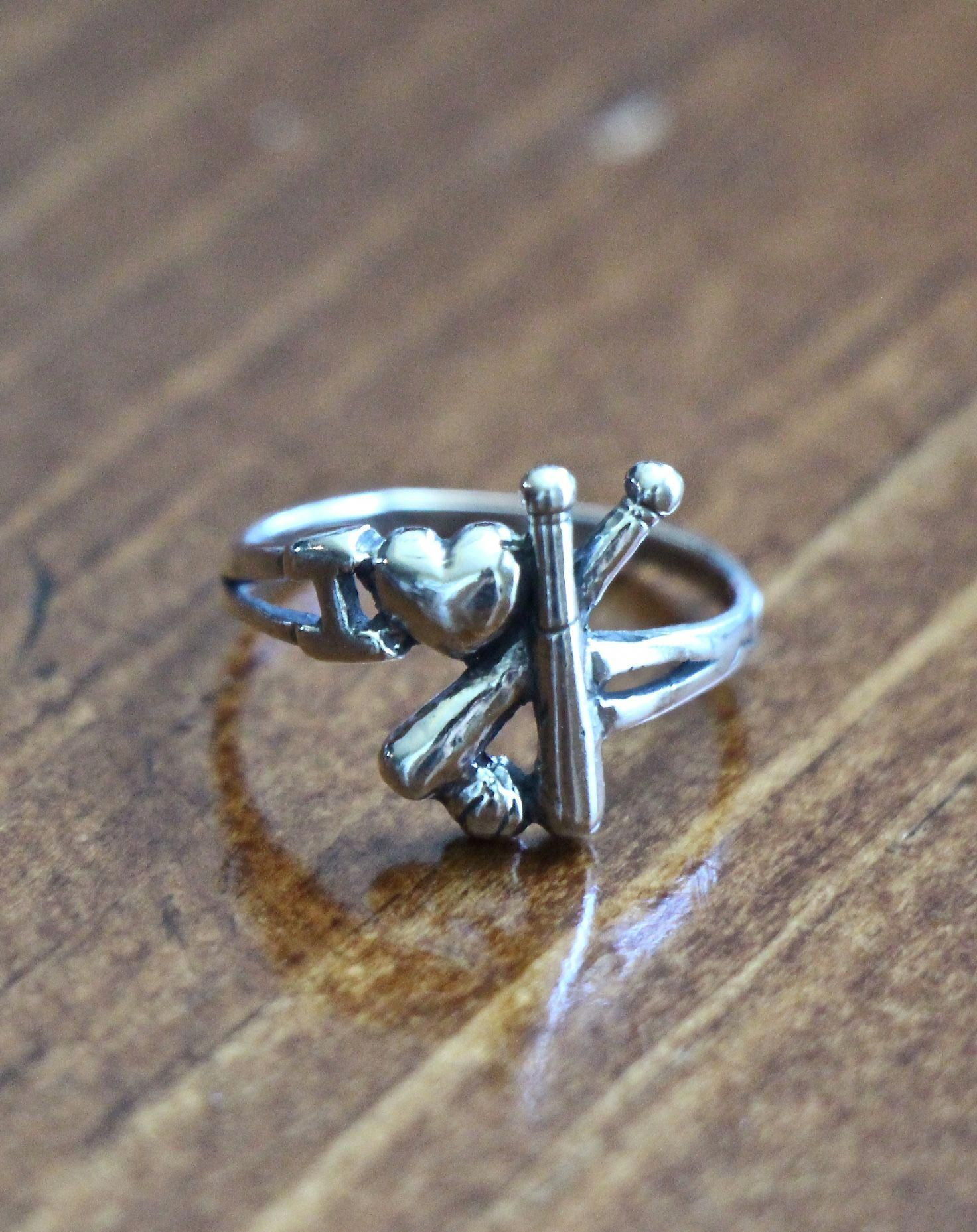 Photo of Baseball Ring- baseball jewelry gift | kandsimpressions