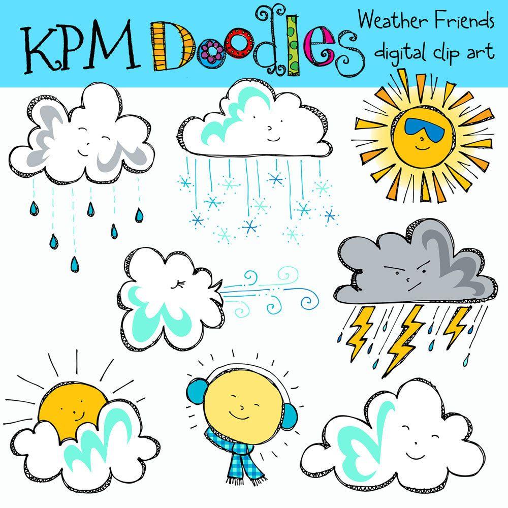 Free Weather Clipart For Teachers Clip Art Digital Clip Art Digital Stamps