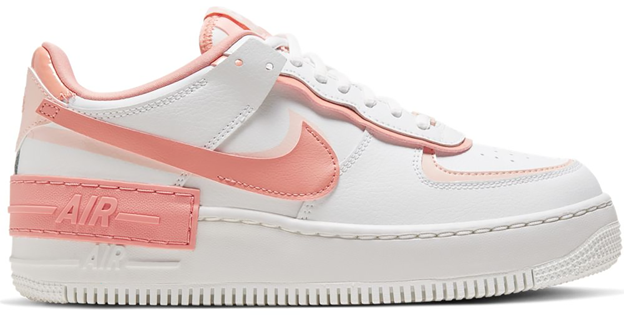 Nike Air Force 1 Shadow White Coral Pink (W) in 2020
