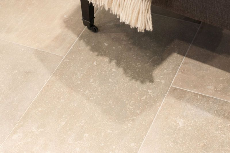 This Is A Porcelain Version Of Pale Belgian Limestone With Subtle Veining And Fossils As Found Stone Flooringnarrow