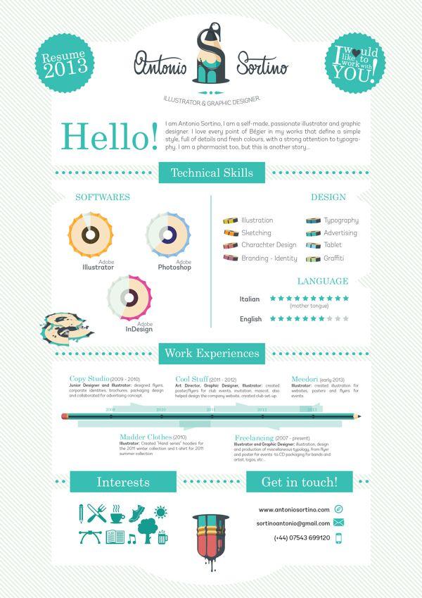 20 Cool Resume Cv Designs Cv Graphique Cv Graphiste Exemple Cv