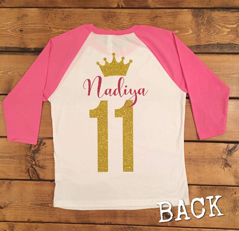 Birthday girl shirt birthday shirt 11th birthday pink