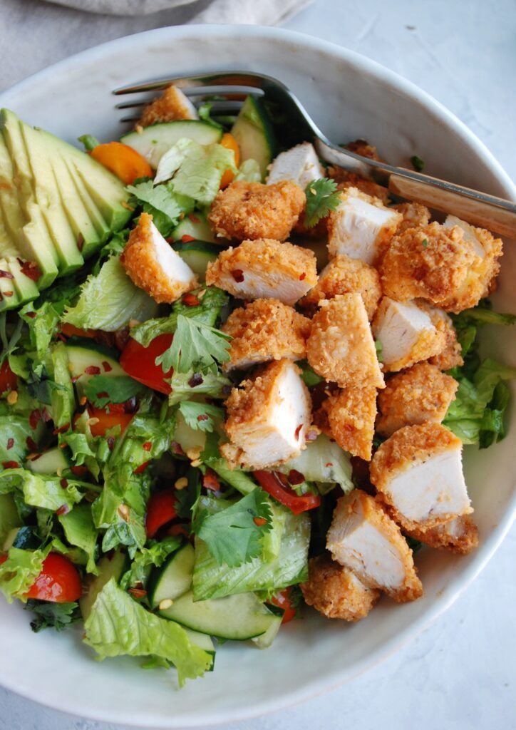 Buffalo Chicken Chopped Salad - onebalancedlife.co