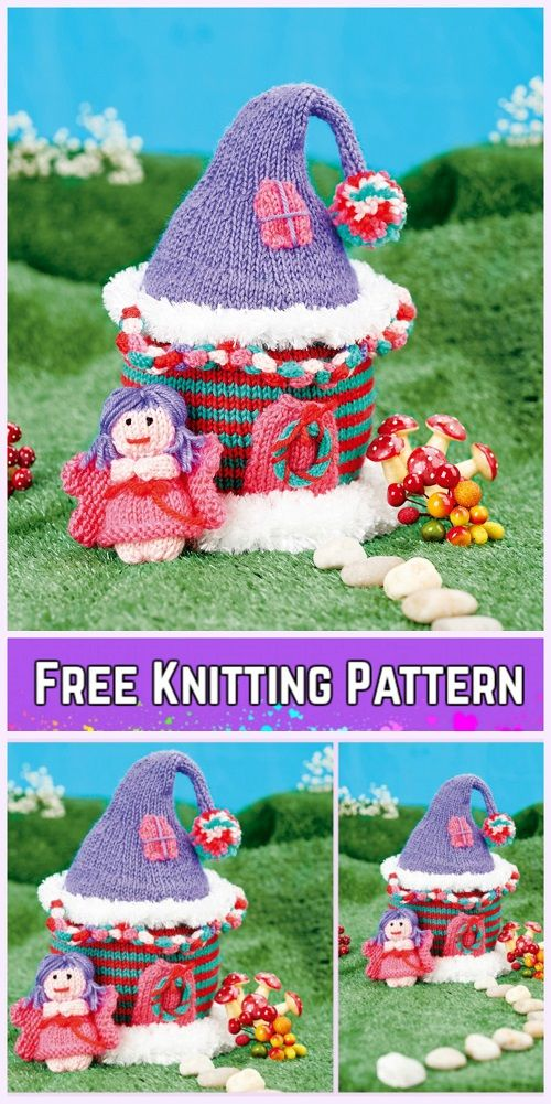 Knit Fairy House Free Knitting Pattern