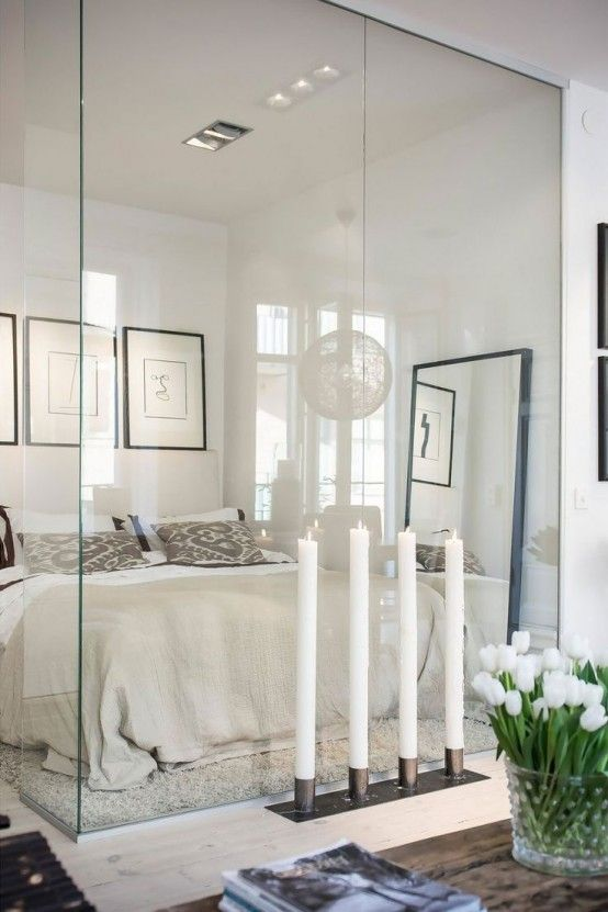 25 Daring Glass Bedroom Design Ideas | DigsDigs