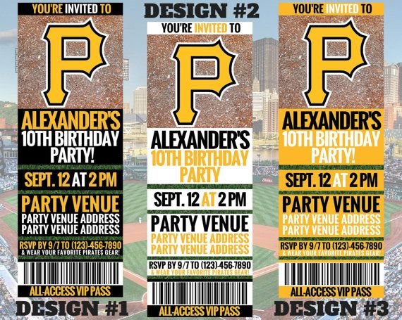 Pittsburgh Pirates Birthday Invitation Printable Mlb Invitation Pittsburgh Pirates Birthday Pirate Birthday Invitations Pirate Birthday