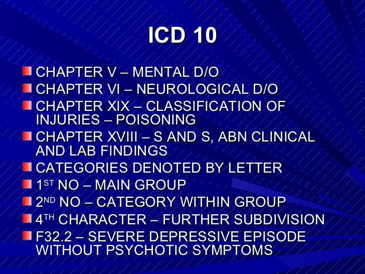 The dsmiv and_icd10_classification_systems_background