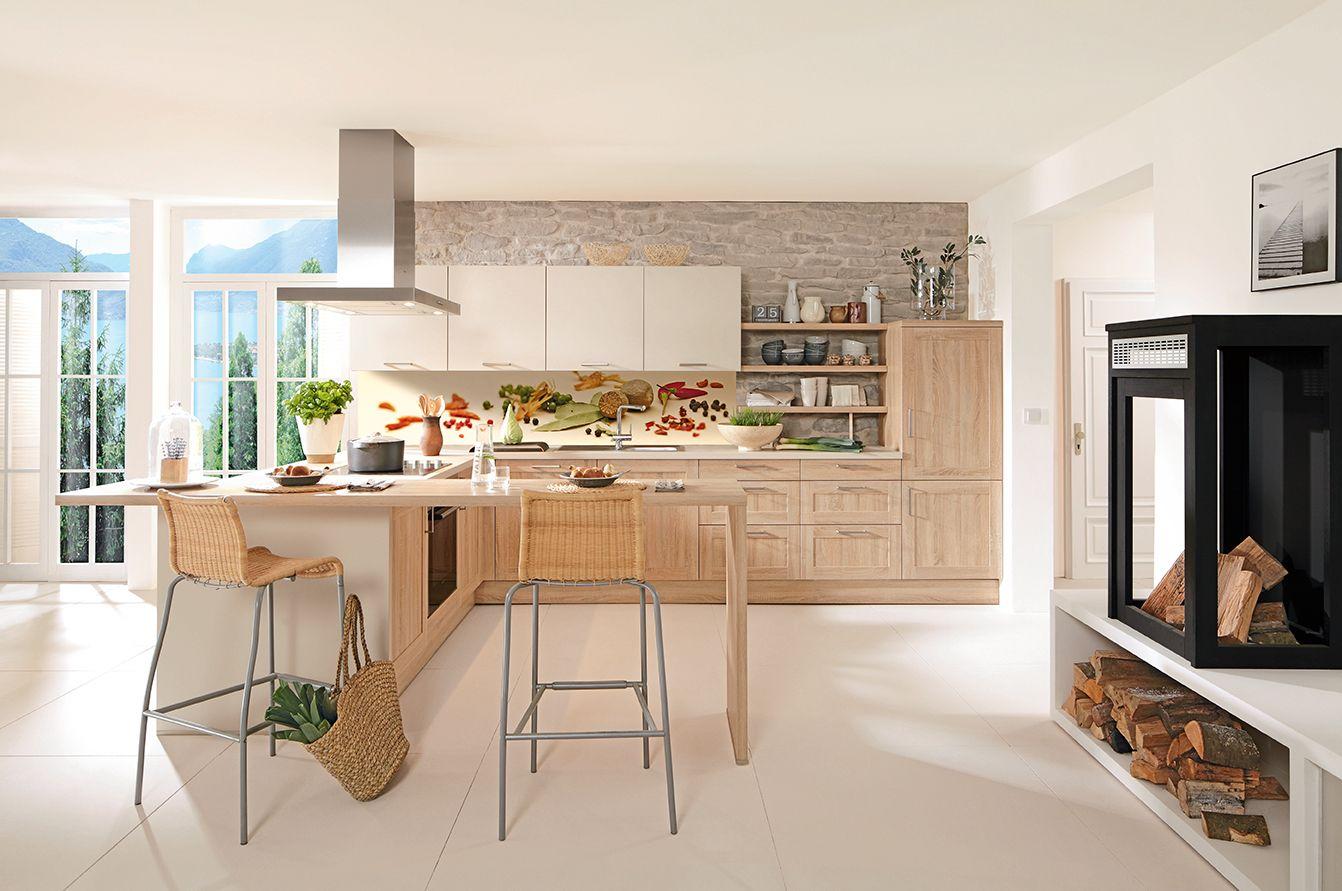 Attraktiv 2018 Landhausstil Modern Kombinieren Konzept Bilder. Diese Küche  Im Landhausstil Kombiniert Arbeitsfläche Mit Bar Atmosphäre