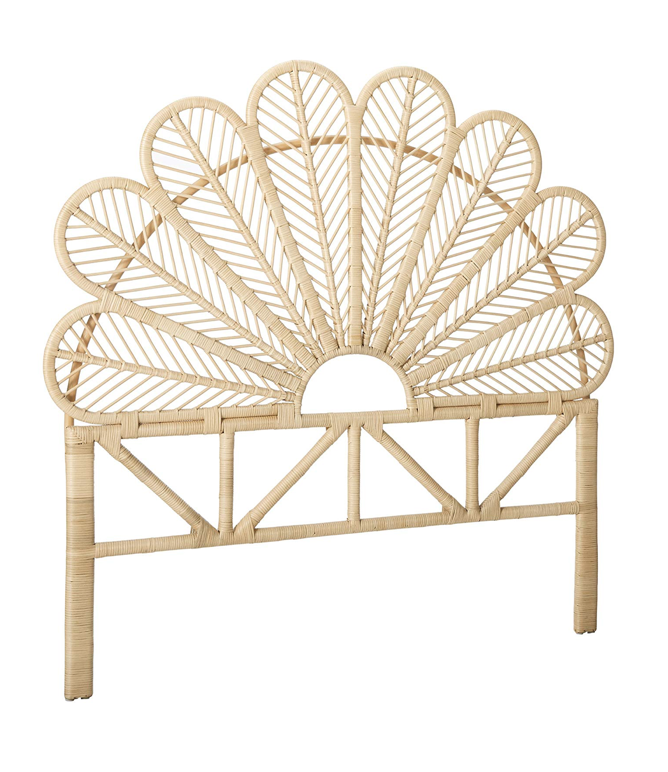 The Daily Hunt Peacock Wicker Mirror And More Katie Considers Rattan Headboard Open Frame Headboard Rattan Bed