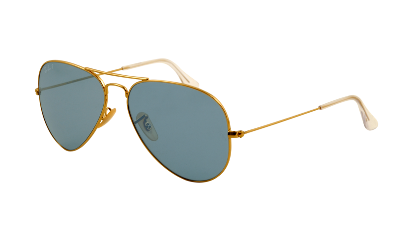 ray ban aviator polarized blau