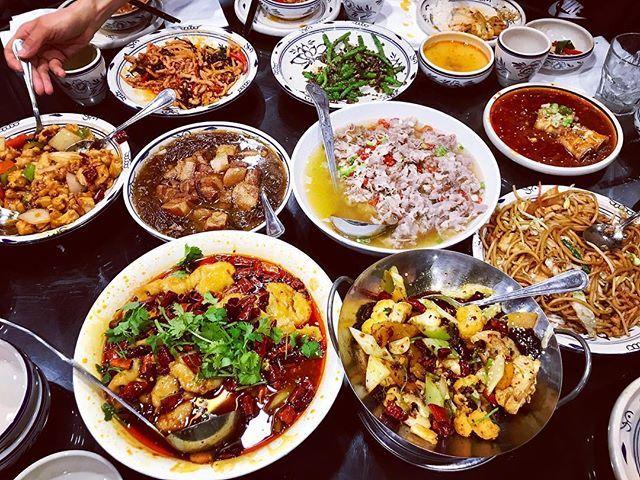 Enjoying family dinner on Sunday night family