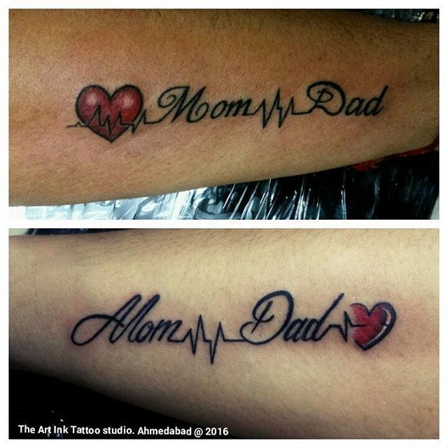 Mom Dad Heartbeat Tattoo: Image Result For Mom Dad Tattoos