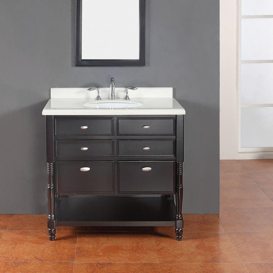 Ove Decors Elizabeth Espresso 36 In Undermount Single Sink Birch