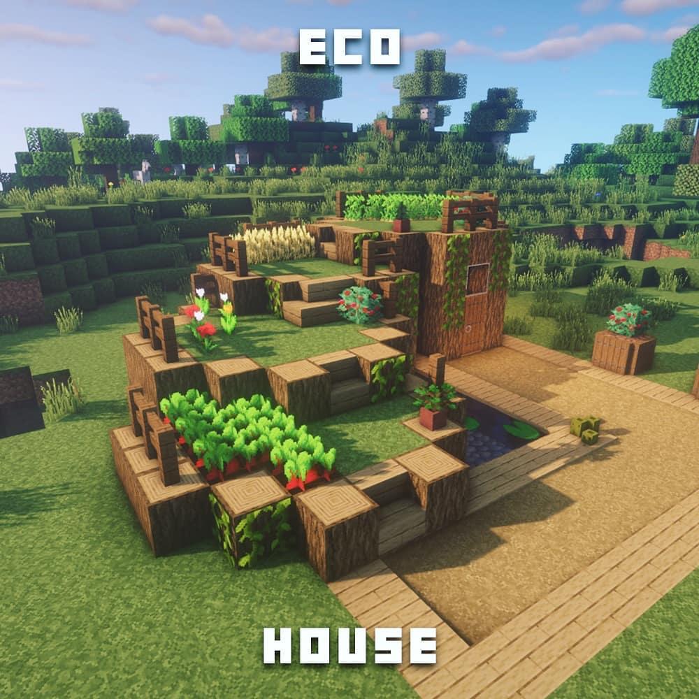 "Fresh Minecraft Builds on Instagram: ""Eco house!"