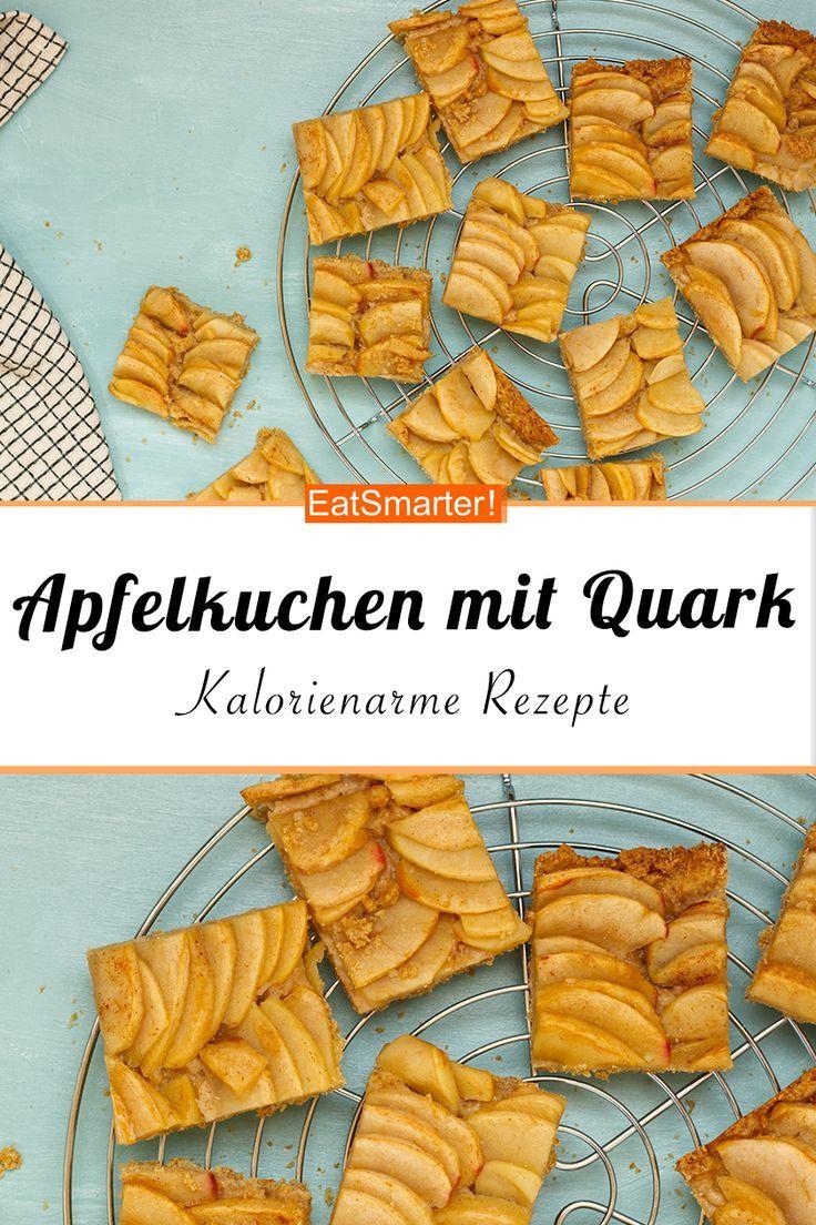 Kalorienarmer Apfelkuchen mit Quark - smarter - Kalorien: 225 kcal - Zeit: 40 Min. | eatsmarter.de #kalorienarm #kuchen #gesund