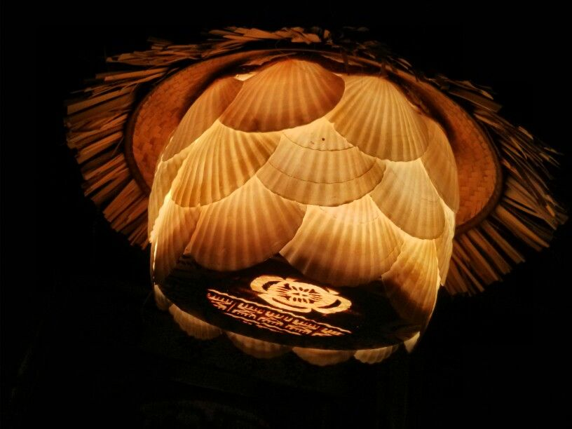 how to make a seashell lampshade
