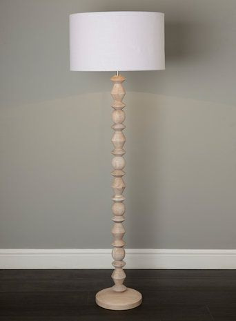 Bhs Lighting Floor Lamps: BHS // Illuminate // Monty floor lamp // blond turned wood floor lamp,Lighting
