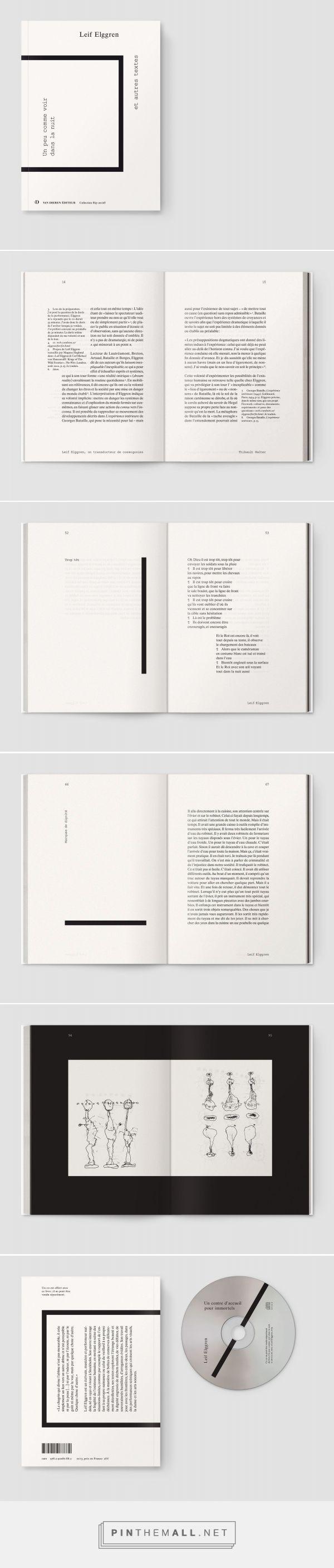 Un peu comme voir dans la nuit   typography / graphic design: Notter + Vigne  