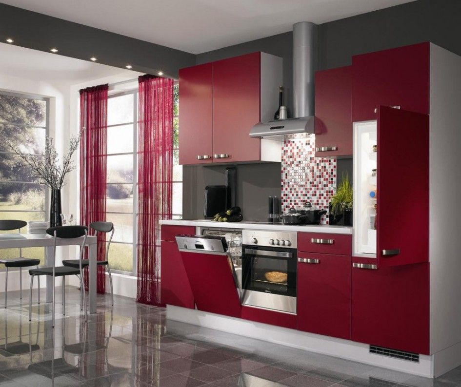 15 Contemporary Kitchen Designs With Stainless Steel: Kitchen Small Space Contemporary Kitchen Design Ideas