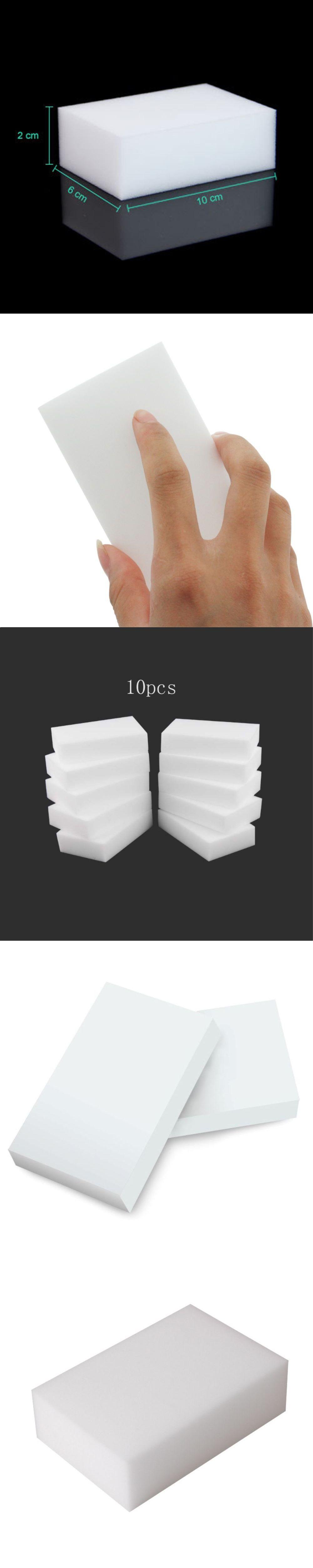 10pcs/lot High Density White Magic Sponge For Household Cleaning ...