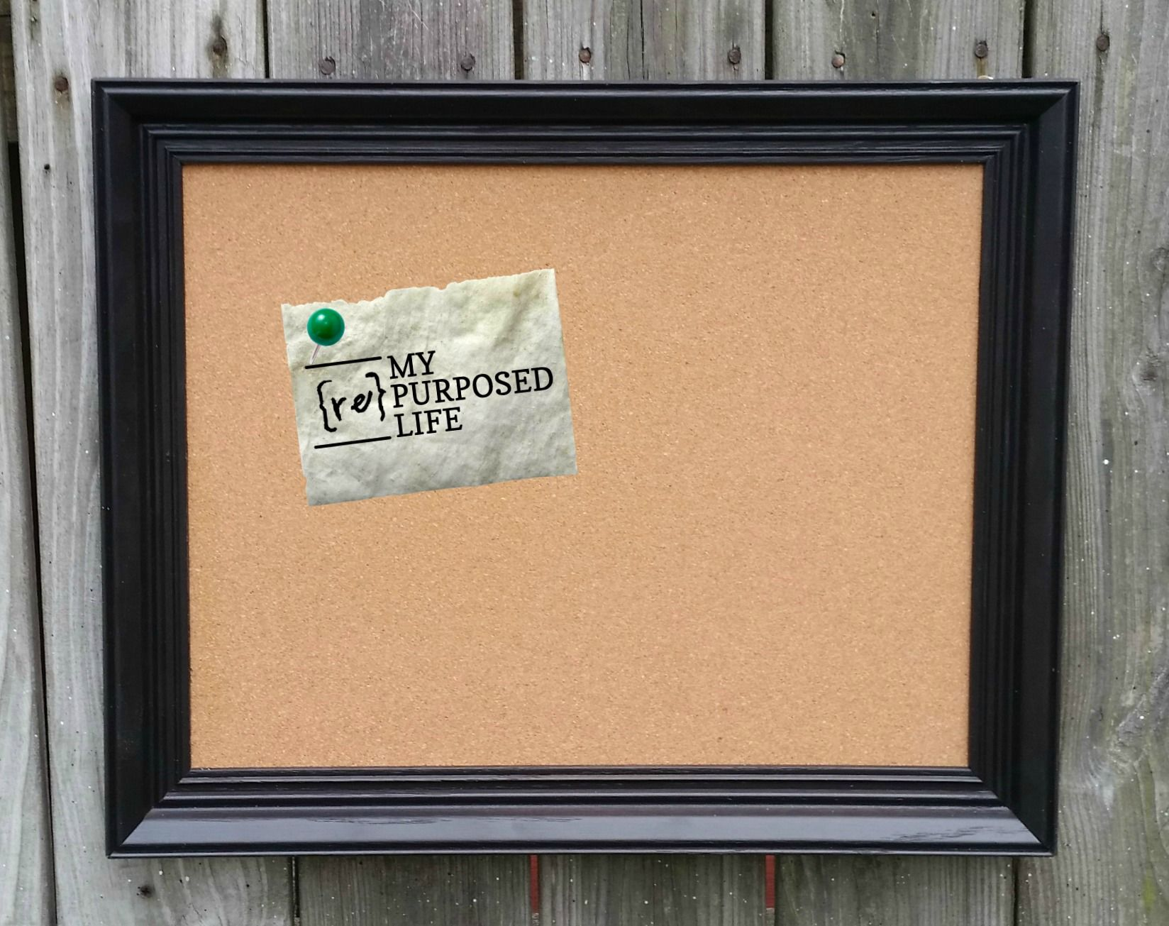 Picture Frame Corkboard | Wooden picture frames, Repurposed and Craft