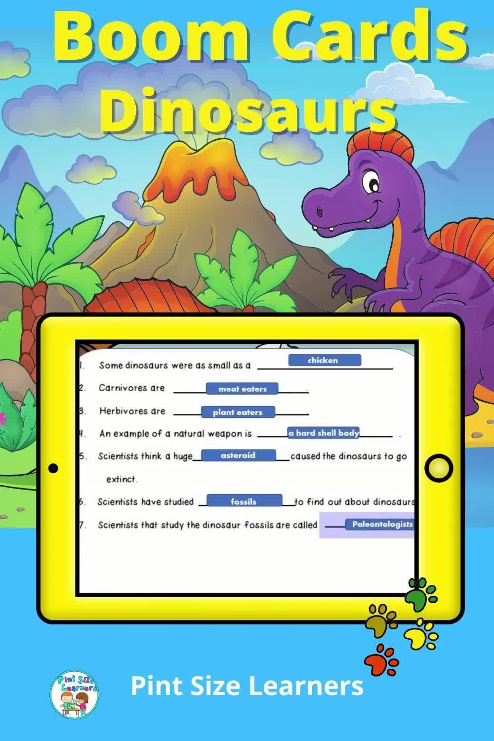 Distance Learning Dinosaurs Science Reading And Vocabulary Boom Cards Video In 2021 Dinosaur Reading Activities Science Reading Nonfiction Reading Activities [ 1500 x 1000 Pixel ]