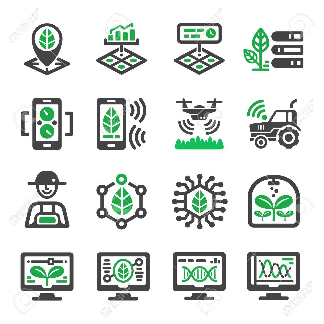smart farm icon set , AFF, farm, smart, set, icon in