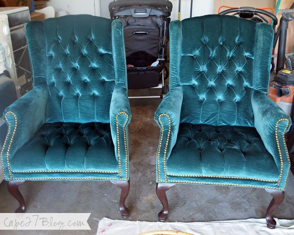 Craigslist Find: Teal Wingback Chairs