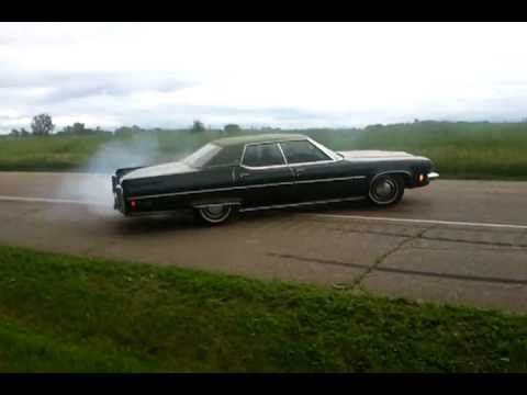 Oldsmobile Burnout olds 98 cyclones doughnut posi 455 ninety eight....DeathProof