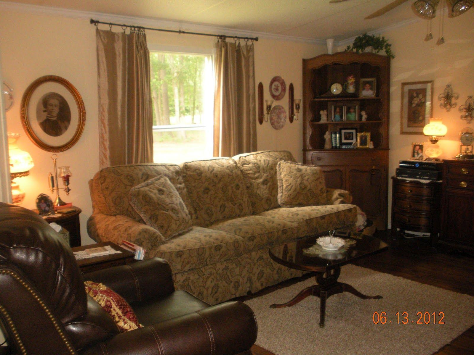 Living Room Makeover: Old Mobile Home Makeovers