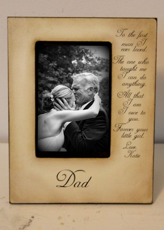 Wedding Picture Frame Father Daughter Wedding Frame Bride Walk Down