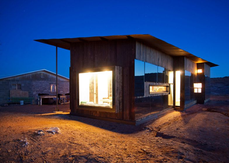 Eight architecture students from the University of Colorado designed and built this cabin in the Utah desert for a Navajo woman.