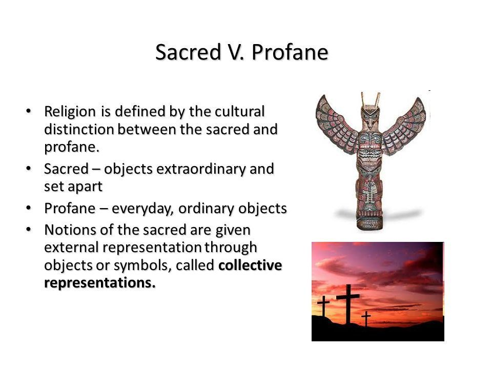Section C World Religions The Sacred And The Profane Sociology