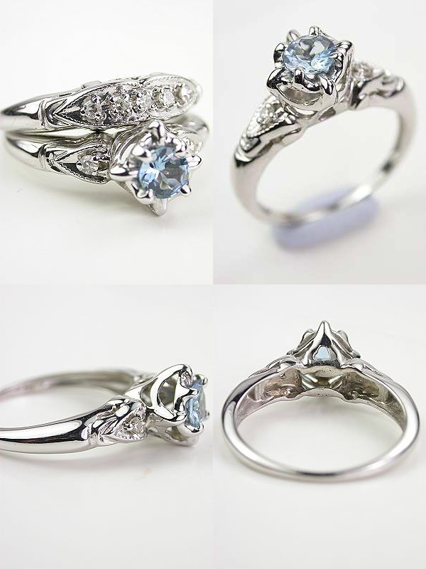 Spectacular Timeless Beauty Antique Style Engagement Rings from Topazery