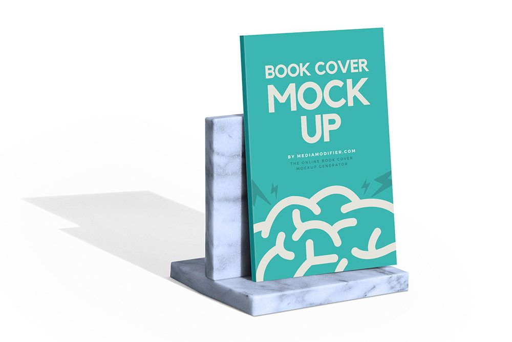 Marble Book Stand With Paperback Book Mockup Book Stands Book Cover Mockup Paperback Books