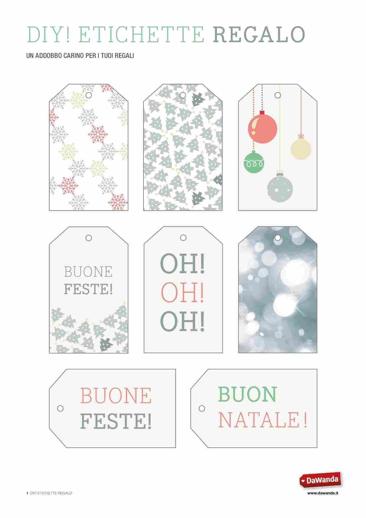 Etichette Natalizie Da Stampare tutorial fai da te: etichette regalo natalizie da stampare