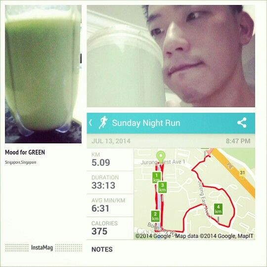 #PostRecoveryDrink #nutrition #lowcalories after #evening #jog at #jurong   #bodybagus #healthyactivelifestyle #feelinggood