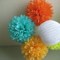Pom Pom and Paper Lantern Mix DIY Decor Kit by Prost to the Host - modern - accessories and decor - - by Etsy
