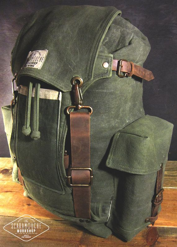 3acd79f026b9 The Globetrotter Pack Waxed Canvas by ScaramoucheWorkshop on Etsy ...