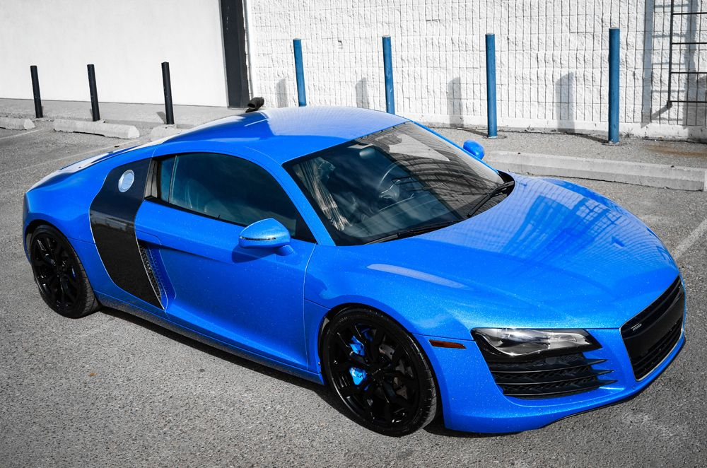Photo gallery with 31 high resolution photos. Check out the Shimmer Blue Audi R8 By ZR Auto images at GTspirit.