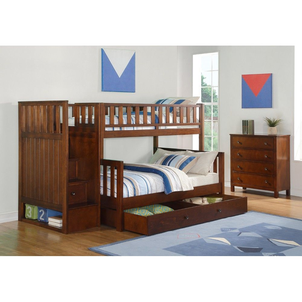 Quiz Twin Over Full Bunk Bed Collection - Bunk Bed, Dresser, Ladder ...