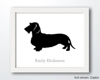 Dog Portrait Long Haired Dachshund Doxie 8w Instant Download