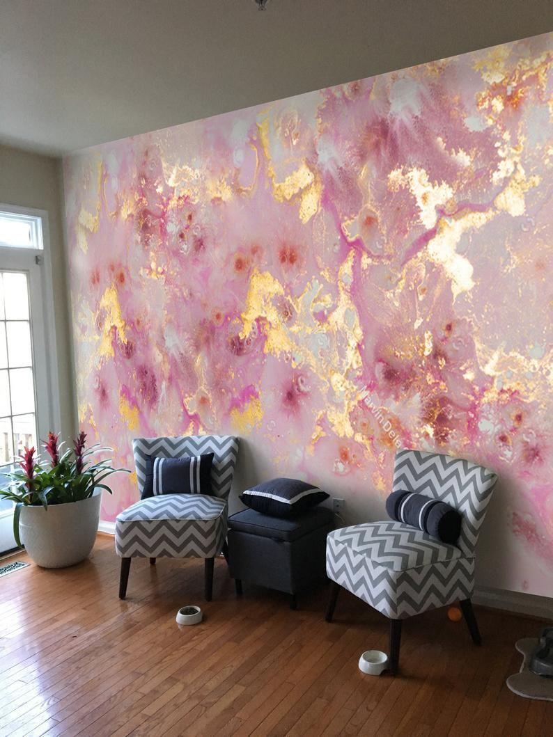 9f X 7ft Pink Purple Gold Marble Vinyl Wallpaper Wall Etsy In 2020 Marble Vinyl Vinyl Wallpaper Wall Wallpaper