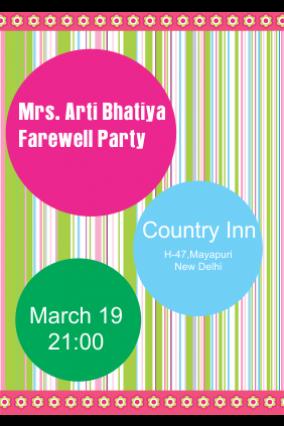 Farewell Invitation Cards Farewell Party Invitations